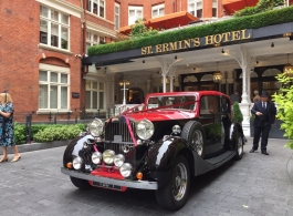 Rolls Royce Phantom wedding car hire in London